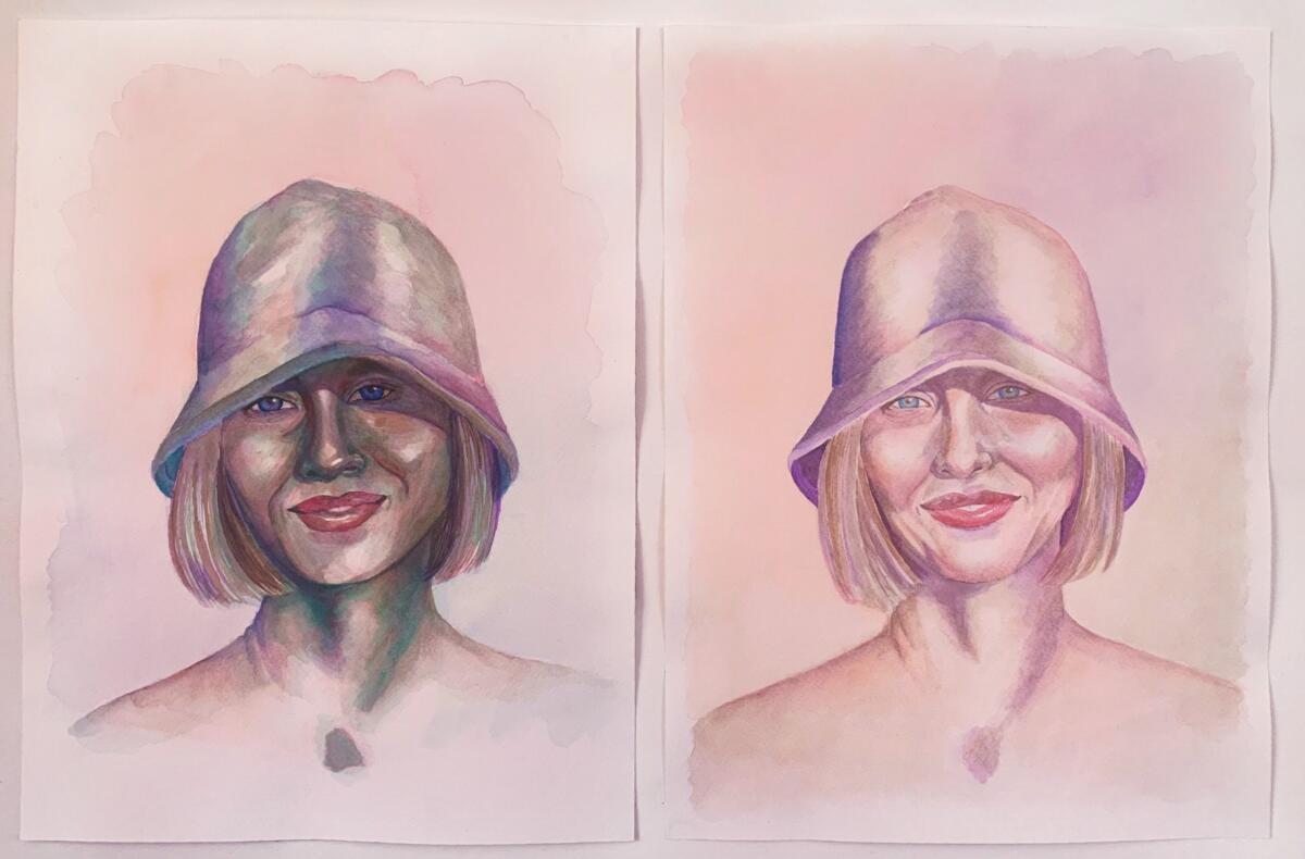 Gundersen_Ingrid_Portrett_-Siri-forste-og-siste-utkast_Akvarell-2